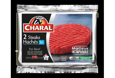 Steak Haché Pur Bœuf 5% - Nos hachés à griller - Classique - charal.fr