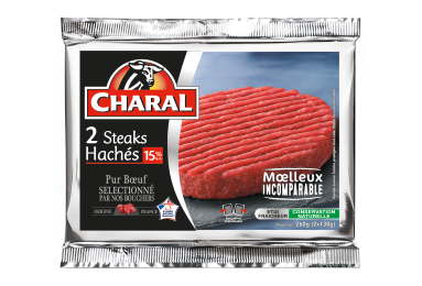 Steak Haché Pur Bœuf 15% - Nos hachés à griller - Classique - charal.fr