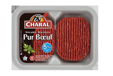 Steak Haché Pur Bœuf 5% - Nos hachés à griller - charal.fr