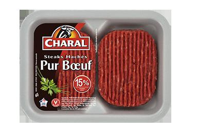 Steak Haché Pur Bœuf 15% - Nos hachés à griller - charal.fr