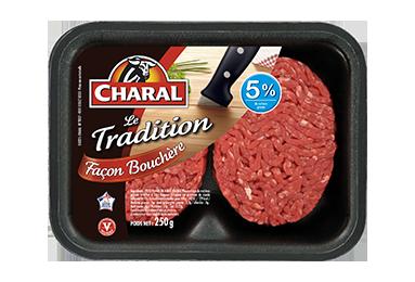 Steak Haché Tradition Façon Bouchère Pur Bœuf 5% - Nos hachés à griller - charal.fr