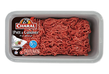 Haché Prêt à Cuisiner Pur Bœuf 5% - Nos hachés à cuisiner - charal.fr