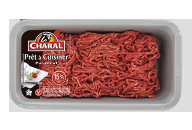 Haché Prêt à Cuisiner Pur Bœuf 15% - Nos hachés à cuisiner - charal.fr