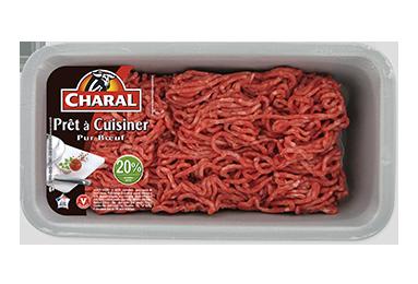 Haché Prêt à Cuisiner Pur Bœuf 20% - Nos hachés à cuisiner - charal.fr