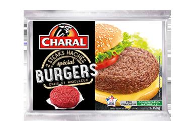 Steaks Hachés Spécial Burgers Pur Bœuf - Nos hachés à griller - Spécial Burger - charal.fr