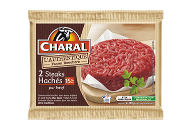 Steak Haché Authentique Pur Bœuf 15% - Nos hachés à griller - Authentique - charal.fr