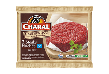 Steak Haché Authentique Pur Bœuf 5% - Nos hachés à griller - Authentique - charal.fr