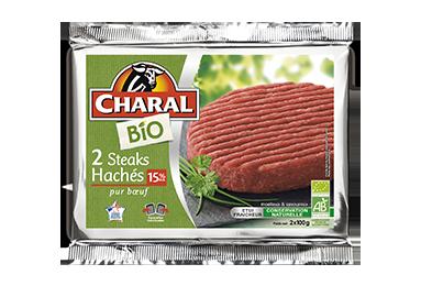 Steak Haché Bio Pur Bœuf 15% - Nos bios - charal.fr