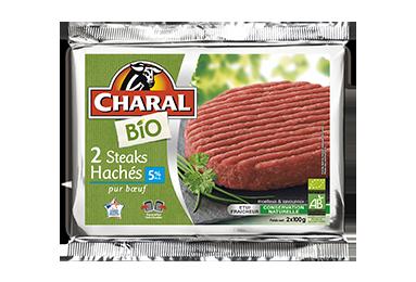 Steak Haché Bio Pur Bœuf 5% - Nos bios - charal.fr