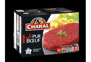 Le Steak Haché Pur Bœuf 15% Mg Surgelé - Nos hachés à griller - Classique - charal.fr