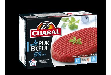 Le Steak Haché Pur Bœuf 5% Mg Surgelé - Nos hachés à griller - Classique - charal.fr