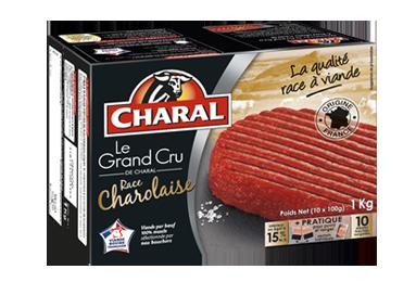 Le Steak Haché Grand Cru Charolais Pur Bœuf Surgelé - Nos hachés à griller - Grand Cru - charal.fr