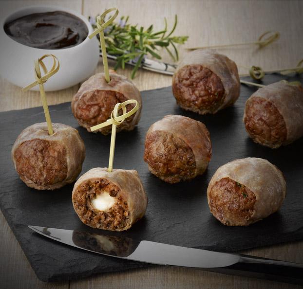 Recette boulettes de b uf c ur fondant mozzarella charal - Cuisiner le coeur de boeuf ...