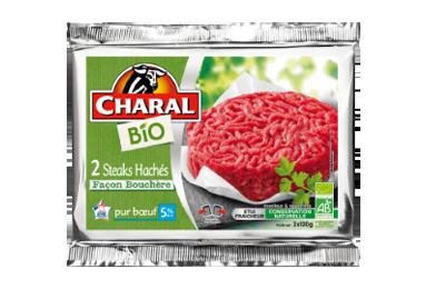 Steaks Hachés Bio Façon Bouchère Pur Bœuf 5% - Nos bios - charal.fr