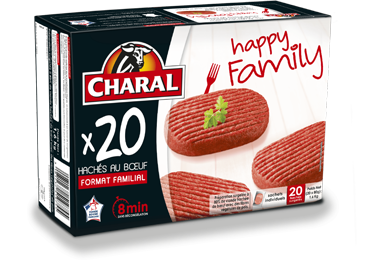 Hachés Happy Family Au Bœuf Surgelés - Nos hachés à griller - Happy Family - charal.fr