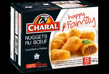 Nuggets Au Bœuf Surgelés - Nos panés - Happy Family - charal.fr