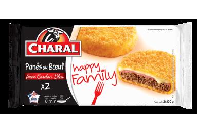 Panés Au Bœuf Façon Cordon Bleu - Nos panés - Happy Family - charal.fr