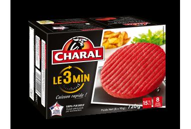 Steak Haché Le 3 Min Pur Bœuf Surgelé - Nos hachés à griller - charal.fr