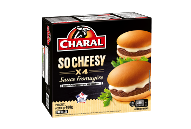 Burger So Cheesy Surgelé - Nos burgers - charal.fr