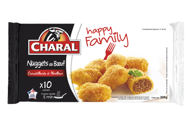 Nuggets Au Boeuf - Nos panés - Happy Family - charal.fr
