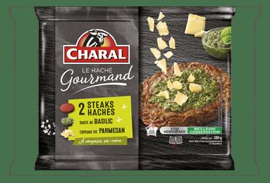 Haché Gourmand Basilic Parmesan - Nos hachés - Ultra frais - charal.fr