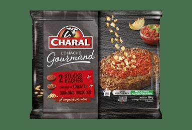 Haché Gourmand Tomate Oignons - Nos hachés - Ultra frais - charal.fr